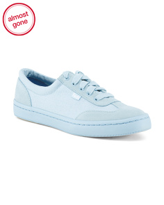 Sporty Chic Tonal Suede Sneaker