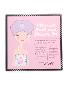 Bath Wrap And Shower Cap Set