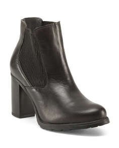 Made In Portugal Chelsea Leather Booties