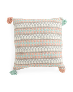 Made In India 20x20 Filmore Textured Pillow