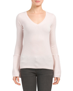 Cashmere Sweater With Bell Sleeves