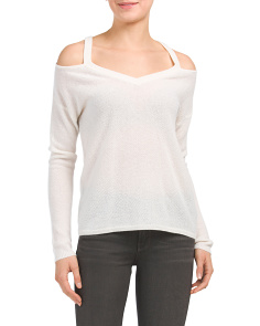 Cut Out Shoulder Cashmere Sweater