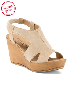 Made In Italy Platform Sling Wedges