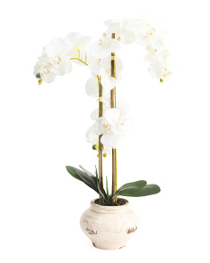 Faux Orchid Arrangement