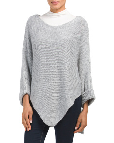 Made In Italy Slouchy Dolman Sleeve Poncho