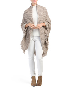 Made In Italy Thich Stitch Fringe Wrap