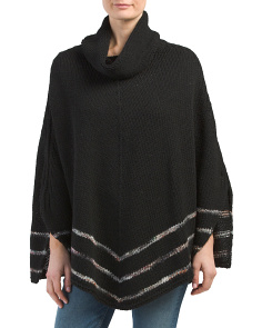 Made In Italy Cowl Neck Cape