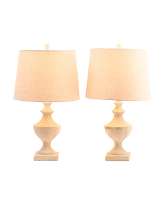 Set Of 2 Concrete Table Lamps