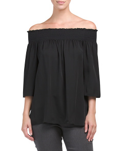 Elistaire Silk Off The Shoulder Top