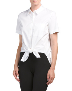 Hekanina Pearce Tie Front Top