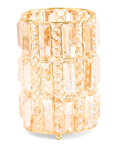 Made In India Crystal Pillar Hurricane