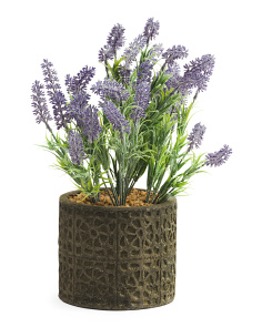 Potted Faux Lavender