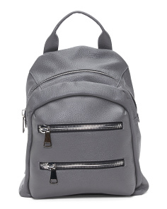 Made In Italy Leather Dome Backpack