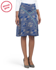 Flared Skirt With Pattern