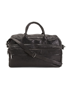 Made In Italy Wrinkled Leather Duffel