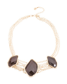 Made In Thailand Smoky Quartz And Bronze Necklace