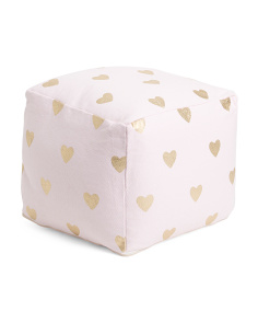 Kids Made In India Heart Pouf
