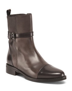 Made In Italy Mid Calf Leather Boots