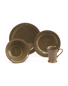 16pc Stoneware Prairie Dinnerware Set