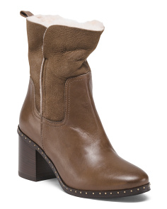 Made In Italy Leather Shearling Boots