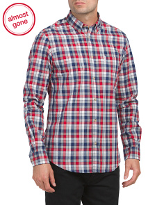 Long Sleeve Marled Gingham Shirt