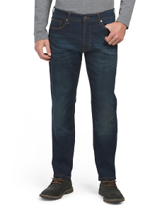 5 Pocket Straight Fit Stretch Denim Jeans