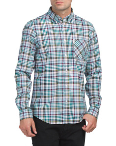 Long Sleeve Tartan Gingham Shirt