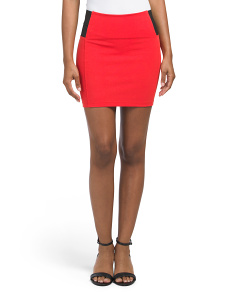 Juniors Ponte Mini Skirt