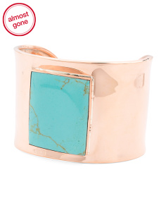 Made In Mexico Turquoise Copper Cuff Bracelet