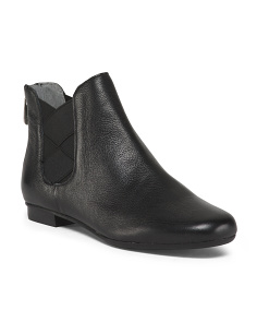 Side Gore Slip On Leather Booties