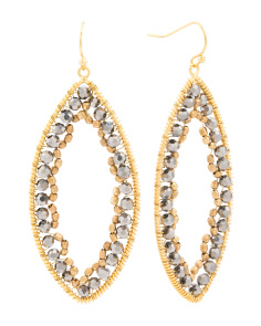Made In Thailand Czech Crystal Gold Plated Drop Earrings