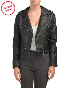 Juniors Star Studded Biker Jacket