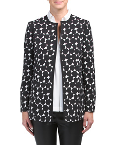 Petite Dot Printed Topper Jacket