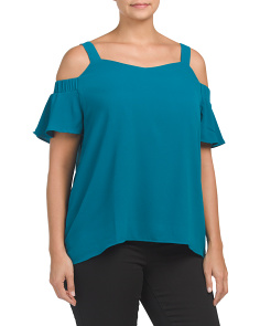 Plus Juniors Cold Shoulder Top