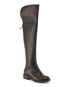 Split Back High Shaft Leather Boots