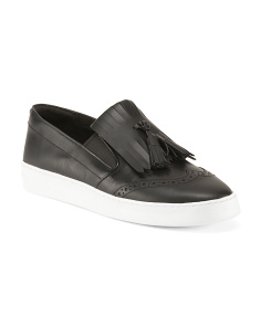 Slip On Fashion Leather Sneakers