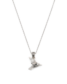 Made In Bali Sterling Silver Hummingbird Necklace