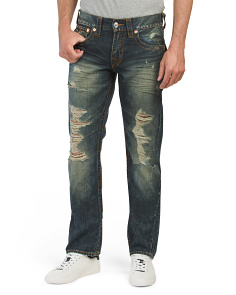Destructed Straight Flap Pocket Jeans