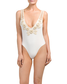 Sun Sway Crochet One-piece Swimsuit