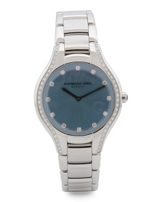 Women's Swiss Made Noemia Diamond Bezel Bracelet Watch