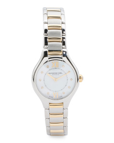 Women's Swiss Made Noemia Diamond Marker Two Tone Watch