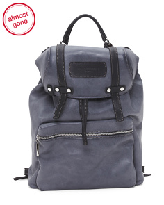 Made In Italy Leather Utility Backpack