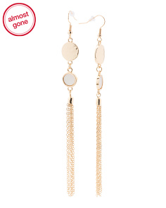 Double Disc Fringe Earrings