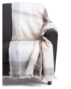 Timeless Warmth Mohair Throw