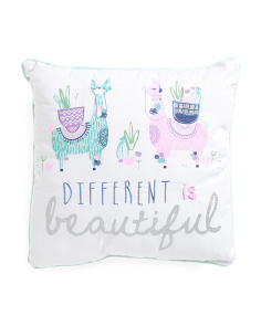Kids 18x18 Beautiful Llama Pillow