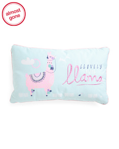 Kids 24x14 Lovely Little Llama Pillow