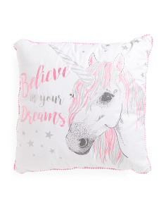 Kids 26x26 Unicorn Pillow