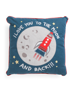 Kids 18x18 Love You To The Moon Pillow