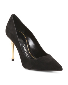 Made In Italy Suede Decollete Pumps