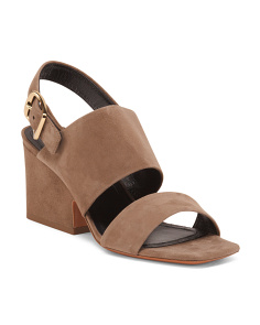 Made In Italy Suede Platform Sandals